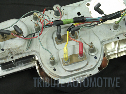 1968 Mustang Instrument Cluster - On The Cluster Remove The Wires For The Alternator And Oil Pressure Gauges Or In The Case Of The It Will Be The Fuel And Alternator - 1968 Mustang Instrument Cluster